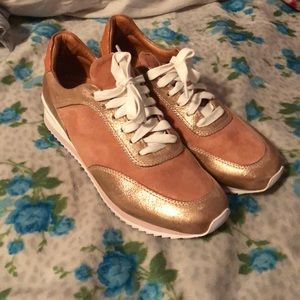 ROSE GOLD TENNIS SHOES